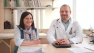 HD DOLLY: Portrait Of A Doctor And Patient video