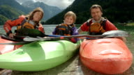 HD: Portrait Of A Family In Kayaks video