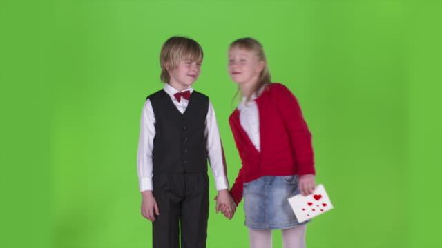 HD: Portrait Of A Little Couple In Love video