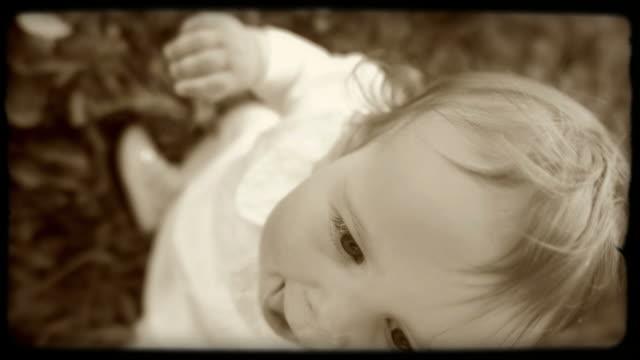 HD SLOW-MOTION: Portrait Of A Little Girl video