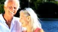Portrait of a Loving Mature Couple Outdoors video