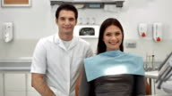 HD DOLLY: Portrait Of A Male Dentist And Patient video