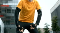 HD: Portrait Of A Male Urban Jogger video