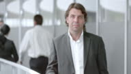 SLO MO DS Portrait of a man in business suit video