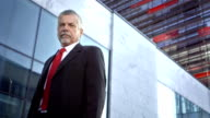HD DOLLY: Portrait Of A Mature Businessman video