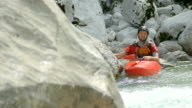 HD: Portrait Of A Whitewater Kayaker video