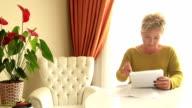 Portrait of a woman having financial problems video