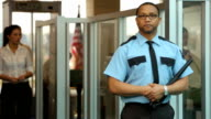 Portrait of airport security person video