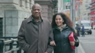 Portrait of an African-American Senior Couple in an Urban Setting video