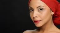 Portrait of an elegant black girl video