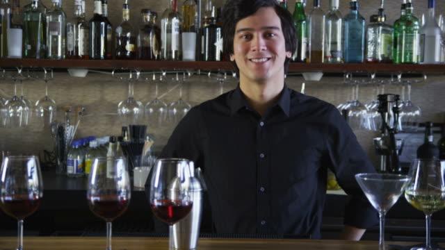 Portrait of bartender video
