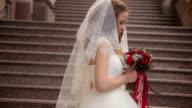 portrait of beautiful bride video