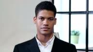 Portrait of Black Businessman video