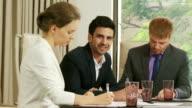 Portrait of Businessman among Colleagues video