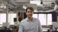 Portrait Of Businessman In Office Shot On R3D video