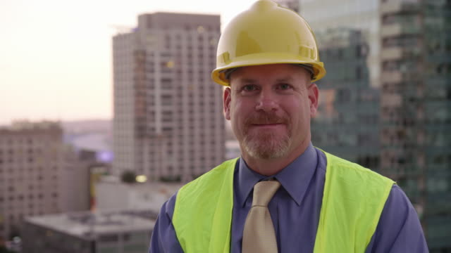 Portrait of construction manager video