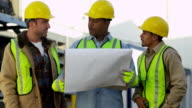 Portrait of construction workers video