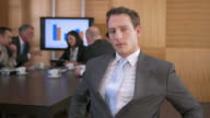 HD: Portrait Of Disabled Businessman video