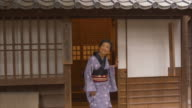 Portrait of Edo Period Woman (slow motion) video