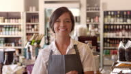 Portrait Of Female Employee In Delicatessen Shot On R3D video