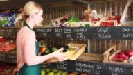 Portrait of female entrepeneur in organic shop video