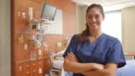 Portrait Of Female Nurse In Hospital Ward Shot On R3D video