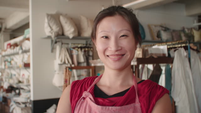 Portrait Of Female Owner Of Gift Store Shot On R3D video