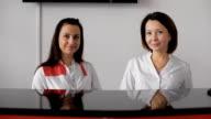 Portrait of female receptionist video