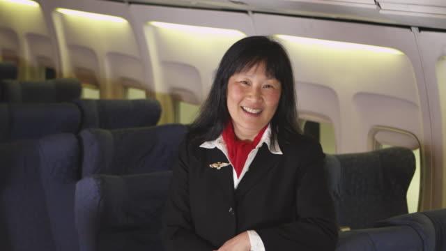 Portrait of flight attendant video