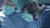 Portrait of Focused and Concentrated Surgeon Performing Surgical Operation in Modern Operating Room. video