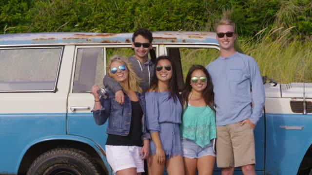 Portrait of Friends at beach video