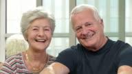 HD DOLLY: Portrait Of Happy Senior Couple video