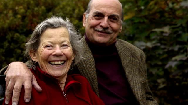Portrait of Happy Senior Couple video