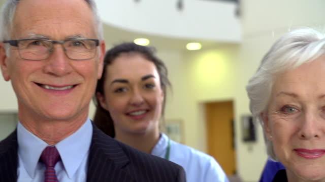 Portrait Of Hospital Medical Team video
