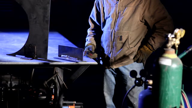 Portrait of industrial worker video