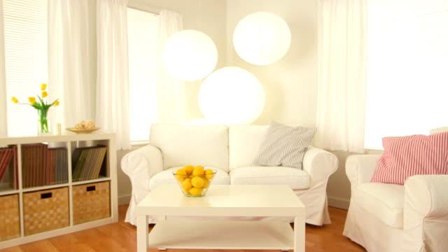 Portrait of living room video