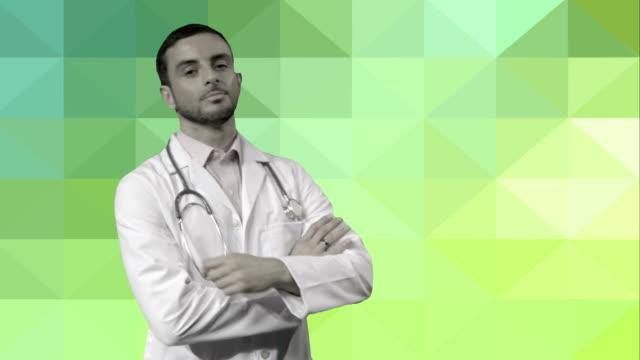 Portrait of male doctor video