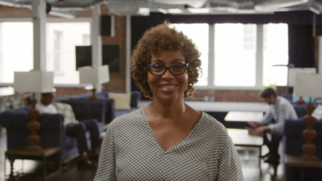 Portrait Of Mature Businesswoman In Office Shot On R3D video