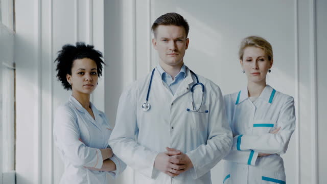 Portrait Of Medical team video