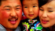 Portrait of Mongolian family video