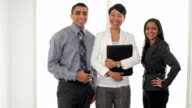 Portrait of Multi-ethnic business team video