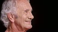 Portrait of senior Caucasian man smiling video