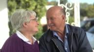 Portrait of senior couple video