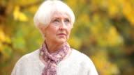 Portrait of senior woman in fall video
