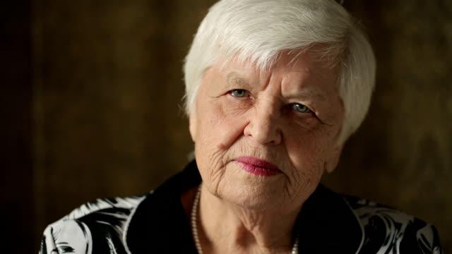 Portrait Of Senior Woman video