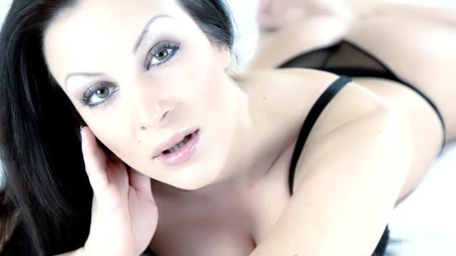 HD: Portrait Of Sensual Woman video