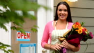 Portrait of small business owner, florist video