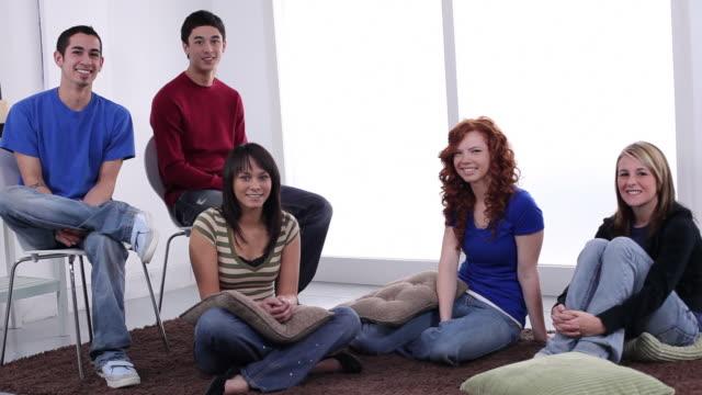 Portrait of  teens video