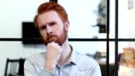 Portrait of Thinking Pensive Man video
