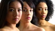 Portrait of three women video